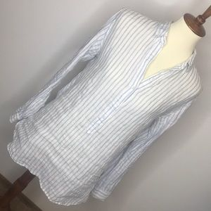 Tops - 4/$20 Linen stripped long sleeve top